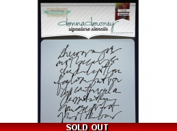 Scribble Script - Donna Downey - Signature Stencils 8.5