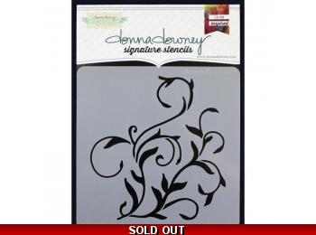 "Flourish 2 - Donna Downey - Signature Stencils 8.5""X8.5"""