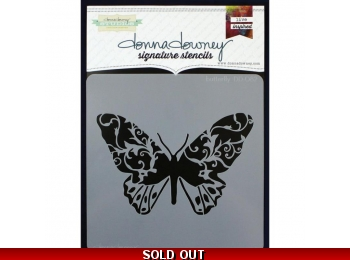 "Butterfly - Donna Downey - Signature Stencils 8.5""X8.5"""