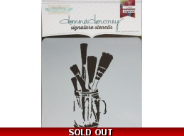 Brushes in Jar - Donna Downey - Signature Stencils 8.5
