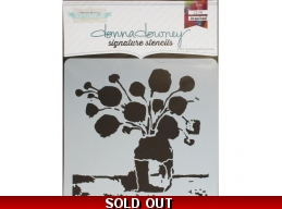 Flowers In Vase 2 - Donna Downey - Signature Stencils 8.5
