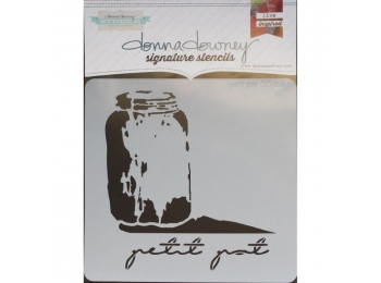 "Petit Pot - Donna Downey - Signature Stencils 8.5""X8.5"""