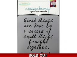 Vincent-Great Things - Donna Downey - Signature Stencils 8.5