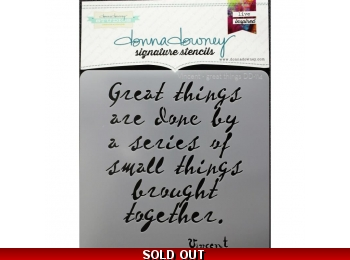 "Vincent-Great Things - Donna Downey - Signature Stencils 8.5""X8.5"""