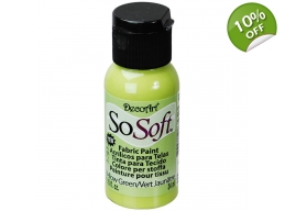 Yellow Green - SoSoft Fabric Paint - 1 oz