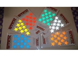 Reflective STARS stickers / Decals | Stick and Glow Reflective Decals