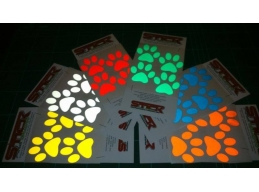 Reflective Dog Paw Print stickers | Stick and Glow Reflective Decals