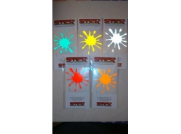 Reflective Splat Stickers | Stick and Glow Reflective Decals