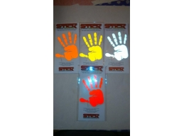 Reflective Hand Print Stickers | Stick and Glow Reflective Decals