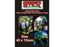 2x Reflective Rossi Marquez Ovals Helmet Visor Stickers | Stick and Glow Reflective Decals