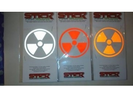 Reflective Nuclear Radiation Stickers | Stick and Glow Reflective Decals