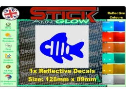 Reflective Fish Stickers | Stick and Glow Reflective Decals