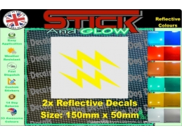 Reflective Lighting Bolt Stickers | Stick and Glow Reflective Decals