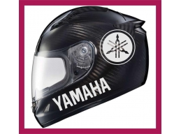 Reflective YAMAHA R1 Logo Sticker. | Stick and Glow Reflective Decals