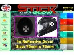 Reflective Maltese Cross Sticker. | Stick and Glow Reflective Decals