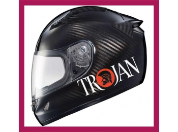 Reflective Trojan Logo Sticker , 2 colour version | Stick and Glow Reflective Decals