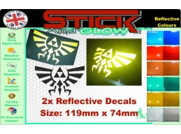 Reflective Legend of Zelda Hyrule Sticker Set of 2 | Stick and Glow Reflective Decals