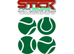 Reflective Tennis Balls stickers. | Stick and Glow Reflective Decals