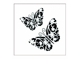 Imagination Crafts Stencil - Flutterby