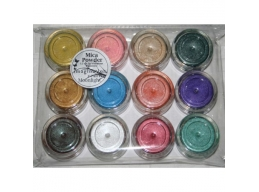 12 Jars of Iridescent Mica Powders - Moonlight