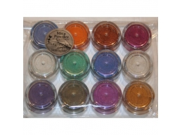 12 Jars of Iridescent Mica Powders - Starlight