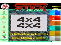 Reflective 4x4 Decal Stickers | Stick and Glow Reflective Decals