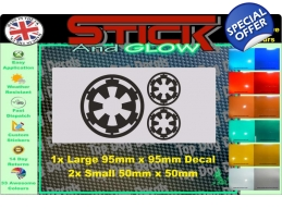3 STAR WARS REBEL IMPERIAL LOGO | Stick and Glow..