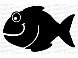 2x Reflective Fish Decals | Stick and Glow Reflective Decals