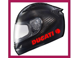 2x Reflective Ducati Logo Stickers / decals | Stick and Glow Reflective Decals