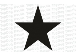 Reflective STAR Single stickers / Decals | Stick and Glow Reflective Decals