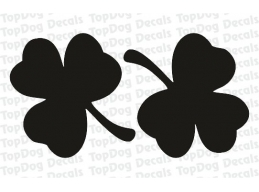 Reflective 3 Leaf Clover/Shamrock Helmets Decal Sticker | Stick and Glow Reflective Decals