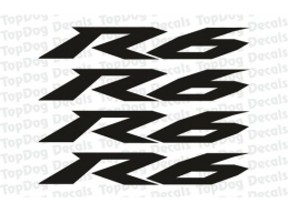 4x Reflective R6 Logo Decals | Stick and Glow Reflective Decals