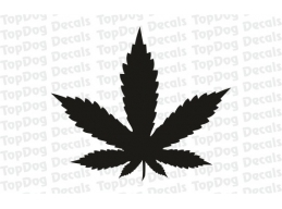 Reflective Cannabis Leaf Decal | Stick and Glow Reflective Decals