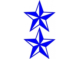 Reflective Nautical Star Logo Decal | Stick and Glow Reflective Decals