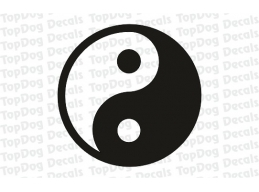 Reflective Yin and Yang Decal | Stick and Glow Reflective Decals