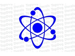 Reflective Atom Nucleus Decal | Stick and Glow Reflective Decals