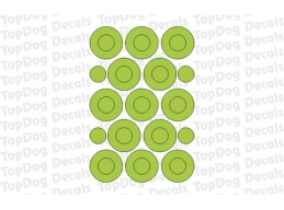 Reflective Circles and Dots Decals | Stick and Glow Reflective Decals