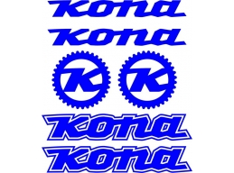 Reflective Kona Mountain Bike Decals Stickers MTB | Stick and Glow Reflective Decals