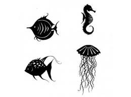 Large Sea Creatures - Lavinia Stamps