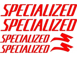 Reflective SPECIALIZED S WORKS MTB Mountain Bike Frame Decals | Stick and Glow Reflective Decals