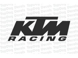 1x Reflective KTM RACING Logo Stickers | Stick and Glow Reflective Decals