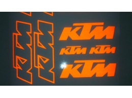 Reflective KTM Decal Sheet | Stick and Glow Reflective Decals