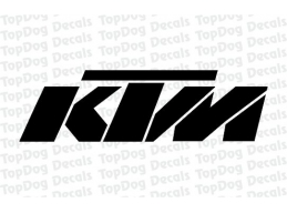2x Reflective KTM Swingarm Stickers Decals | Stick and Glow Reflective Decals