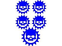Reflective Cog Gears of War Skull Decal | Stick and Glow Reflective Decals