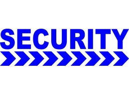 3x Security & Chevron Vehicle Sign / Decal | Stick and Glow Reflective Decals