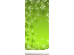PC Christmas Snow Flurry Green