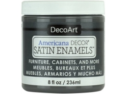 Americana Decor - Charcoal Grey Satin Enamels
