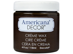 Americana Decor Creme Wax - Deep Brown - 4 oz