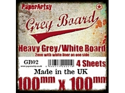 PaperArtsy Grey Board GB02 4pk
