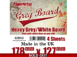 PaperArtsy Grey Board GB03 4pk